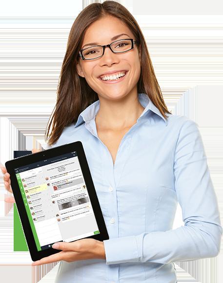 white label communication platform on ipad